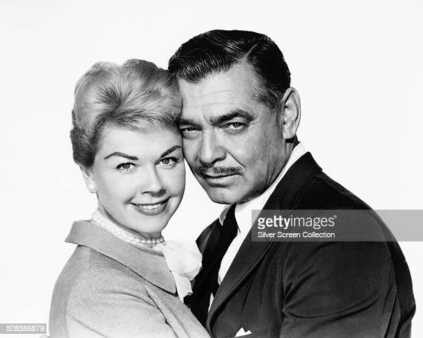 American actors Clark Gable and Doris Day in a promotional portrait for 'Teacher's Pet' directed by George Seaton 1958