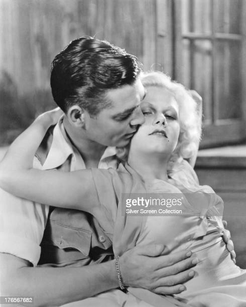 American actors Clark Gable as Dennis Carson and Jean Harlow as Vantine in 'Red Dust' directed by Victor Fleming 1932