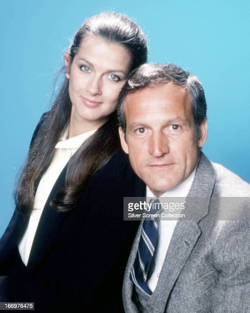 American actors Daniel J Travanti and Veronica Hamel in a promotional portrait for the TV police drama series 'Hill Street Blues' circa 1985