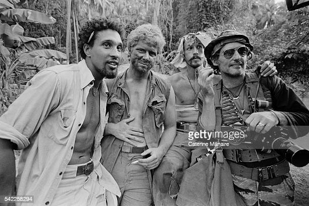 American actors Dennis Hopper on the set of the film Apocalypse Now directed by Francis Ford Coppola and based on Joseph Conrad's novel Heart of...