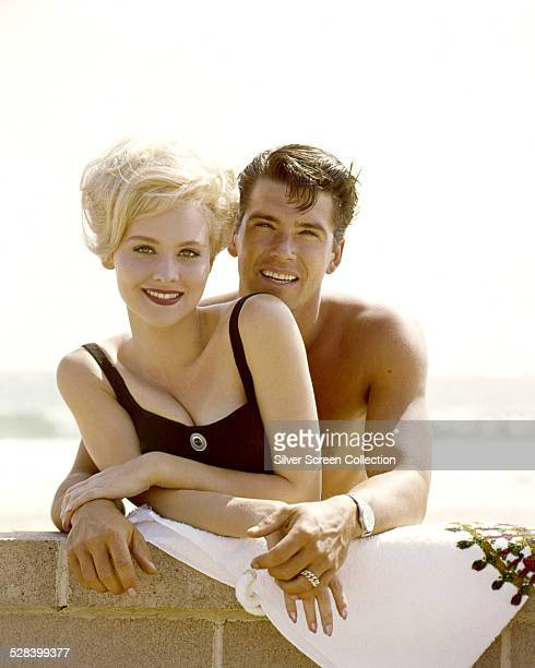 American actors Diane McBain and Van Williams circa 1960 They star together in the TV series 'Surfside 6'