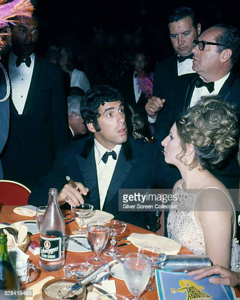 American actors Elliott Gould and his wife Barbra Streisand at the premiere of William Wyler's 'Funny Girl' New York City 18th September 1968...