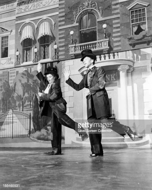 American actors Fred Astaire as Don Hewes and Judy Garland as Hannah Brown in 'Easter Parade' directed by Charles Walters 1948