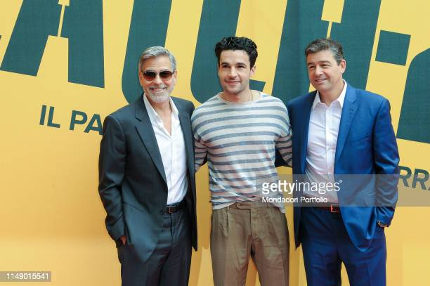 American actors George Clooney, Christopher Abbott and Kyle attend the Sky TV series Catch-22 photocall. Rome , May 13th, 2019