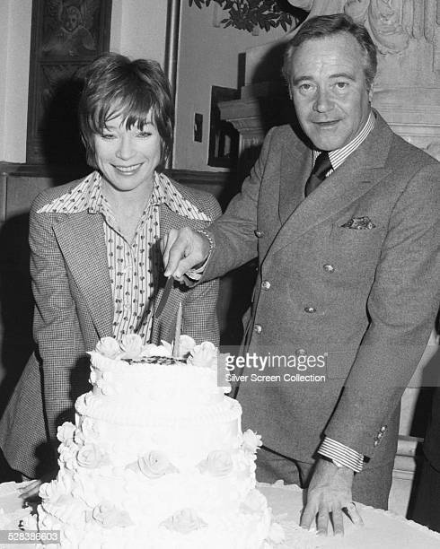 American actors Jack Lemmon 1925 2001 and Shirley MacLaine at Lemmon's 50th birthday party held at the Plaza Hotel New York City 20th February 1975