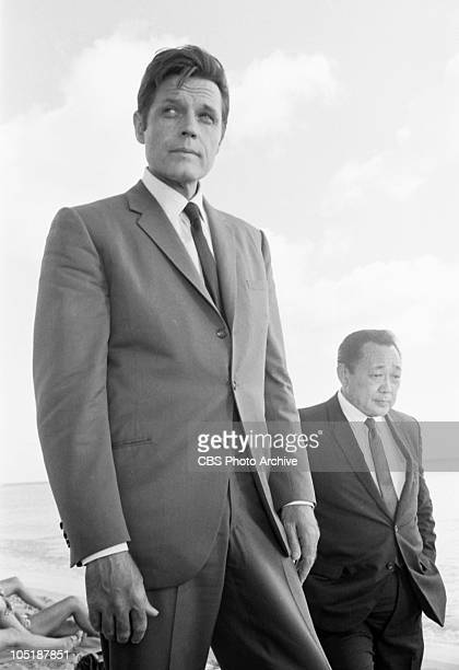 American actors Jack Lord and Kam Fong appear in an episode of the television series 'Hawaii 50' entitled in 'Tiger By the Tail' Hawaii June 24 1968...