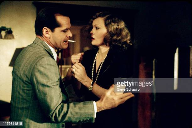 American actors Jack Nicholson and Faye Dunaway in a scene from the film 'Chinatown' Los Angeles California 1973