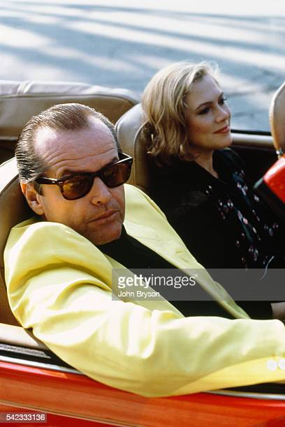 American actors Jack Nicholson and Kathleen Turner on the set of Prizzi's Honor by director screenwriter producer and actor John Huston