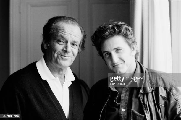 American actors Jack Nicholson and Sean Penn attend the American Film Festival in Deauville to present the film Crossing Guard, written and directed by Penn and starring Nicholson.
