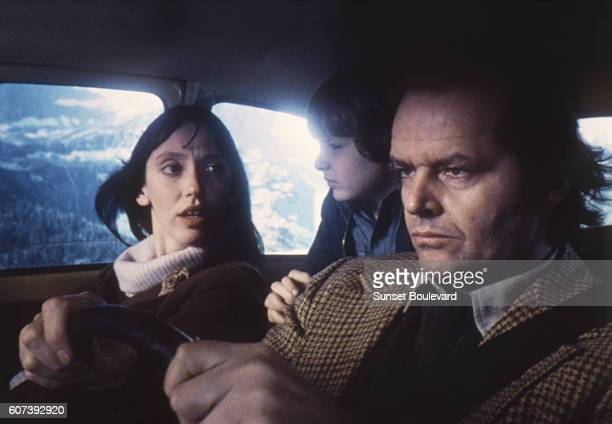 American actors Jack Nicholson Danny Lloyd and Shelley Duvall on the set of The Shining based on the novel by Stephen King and directed by Stanley...