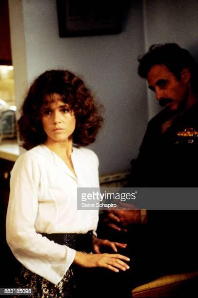American actors Jane Fonda and Bruce Dern in a scene from the film 'Coming Home' Santa Monica California 1977
