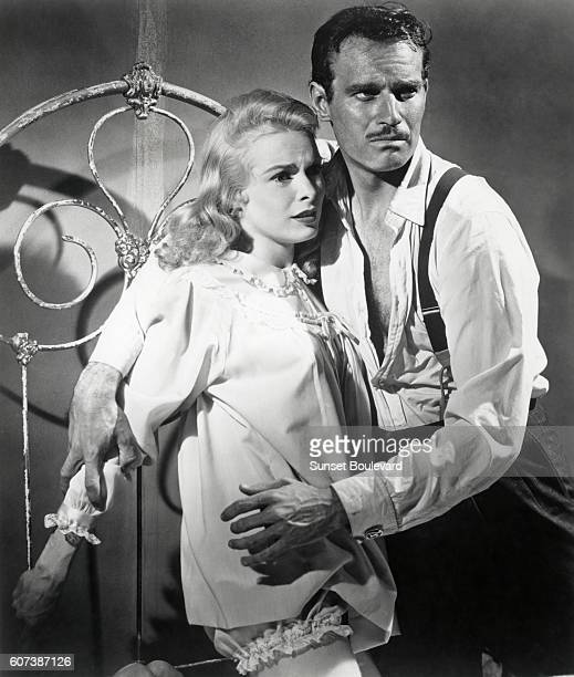 American actors Janet Leigh and Charlton Heston on the set of Touch of Evil written and directed by Orson Welles