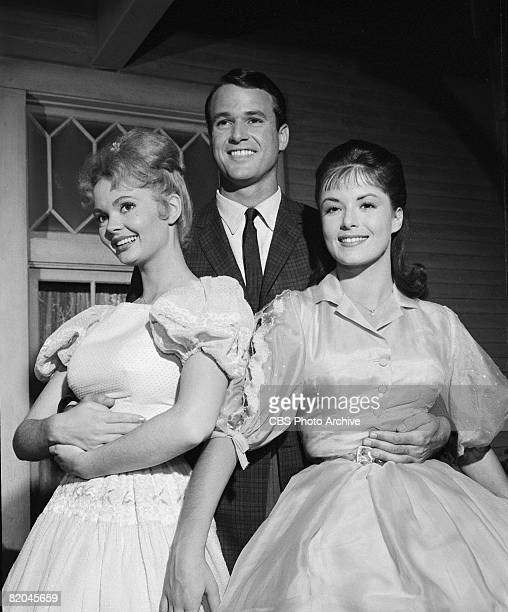 American actors Jeannine Riley Jack Bannon and Pat Woodell appear together in a scene from an episode of 'Petticoat Junction' entitled 'Kate's Recipe...