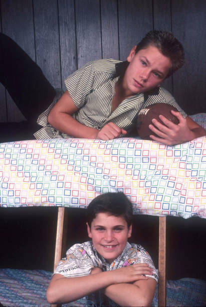 CA: Actors And Brothers Joaquin & River Phoenix As Kids At Home With Their Family