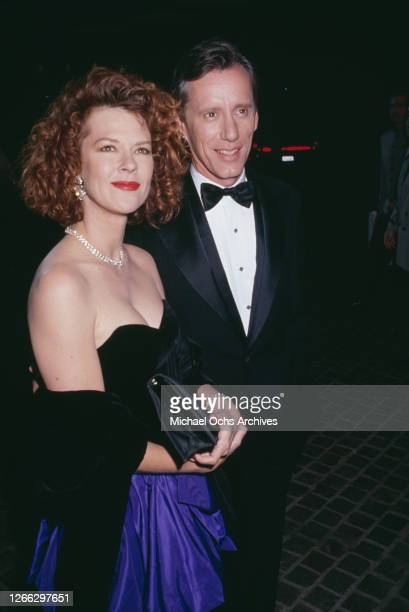 American actors JoBeth Williams and James Woods at the 47th Annual Golden Globe Awards in Beverly Hills, Los Angeles, California, 20th January 1990.