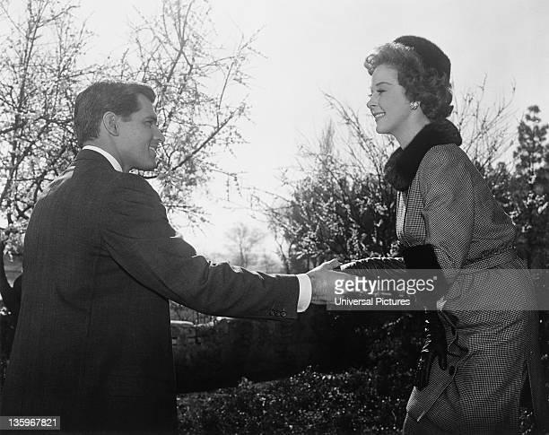 American actors John Gavin and Susan Hayward start a romance in the Ross HunterCarrollton film 'Back Street' 1961
