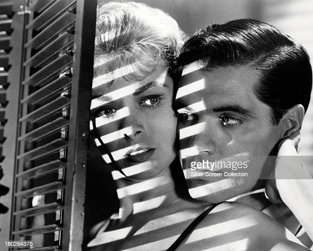 American actors John Gavin as Sam Loomis and Janet Leigh as Marion Crane in 'Psycho' directed by Alfred Hitchcock 1960