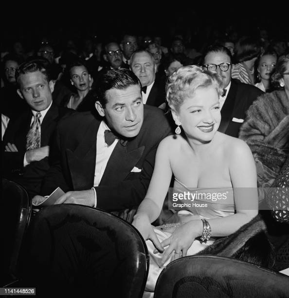 American actors John Hodiak and Anne Baxter attend the premiere of The Snows of Kilimanjaro US 17th September 1952