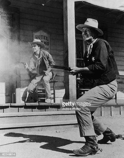 American actors John Wayne and Ricky Nelson star in the western 'Rio Bravo' 1959