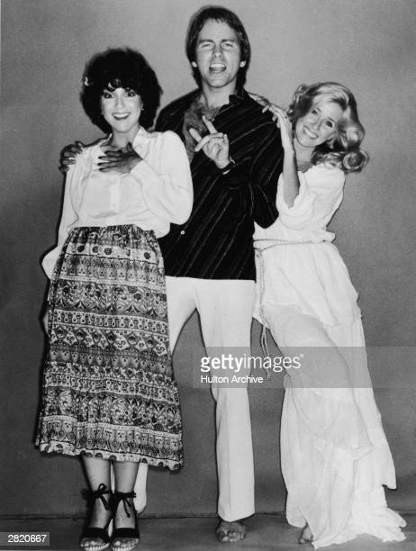 American actors Joyce DeWitt John Ritter and Suzanne Somers in a fulllength promotional portrait for the television series 'Three's Company' 1979