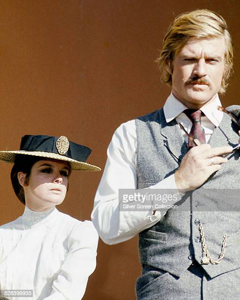 American actors Katharine Ross as Etta Place and Robert Redford as the Sundance Kid in 'Butch Cassidy And The Sundance Kid' directed by George Roy...
