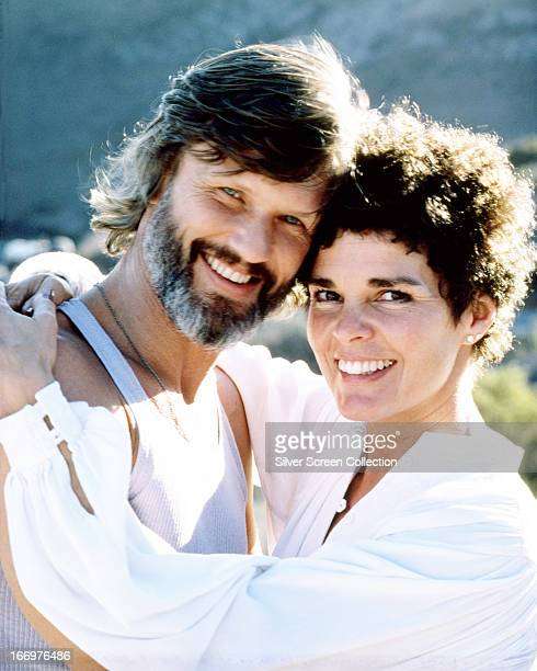 American actors Kris Kristofferson and Ali MacGraw in a promotional portrait for 'Convoy', directed by Sam Peckinpah, 1978.