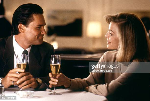 American actors Kurt Russell and Michelle Pfeiffer on the set of Tequila Sunrise written and directed by Robert Towne