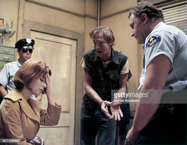 American actors Lee Grant and Rod Steiger on the set of In the Heat of the Night, based on the novel by John Ball, and directed by Norman Jewison.