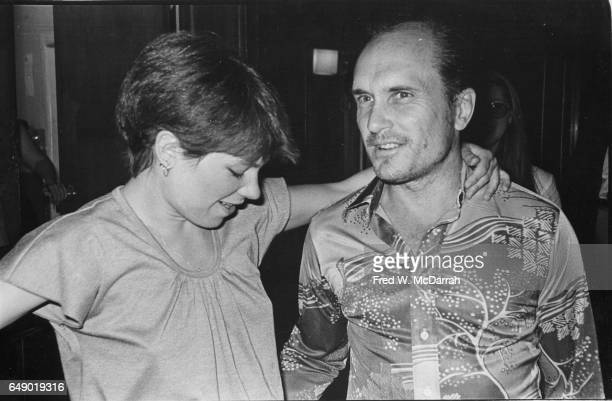 American actors Lindsay Crouse and Robert Duvall attend the Village Voice's annual OBIE Awards New York New York May 26 1977