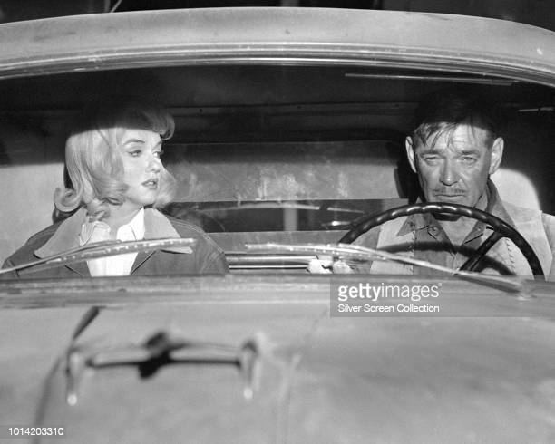 American actors Marilyn Monroe and Clark Gable in a scene from the film 'The Misfits', 1961.