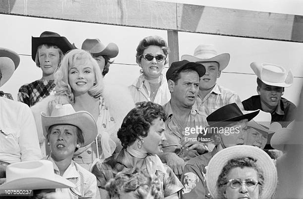 American actors Marilyn Monroe and Eli Wallach during the location shoot of 'The Misfits' in the Nevada Desert, 1960.