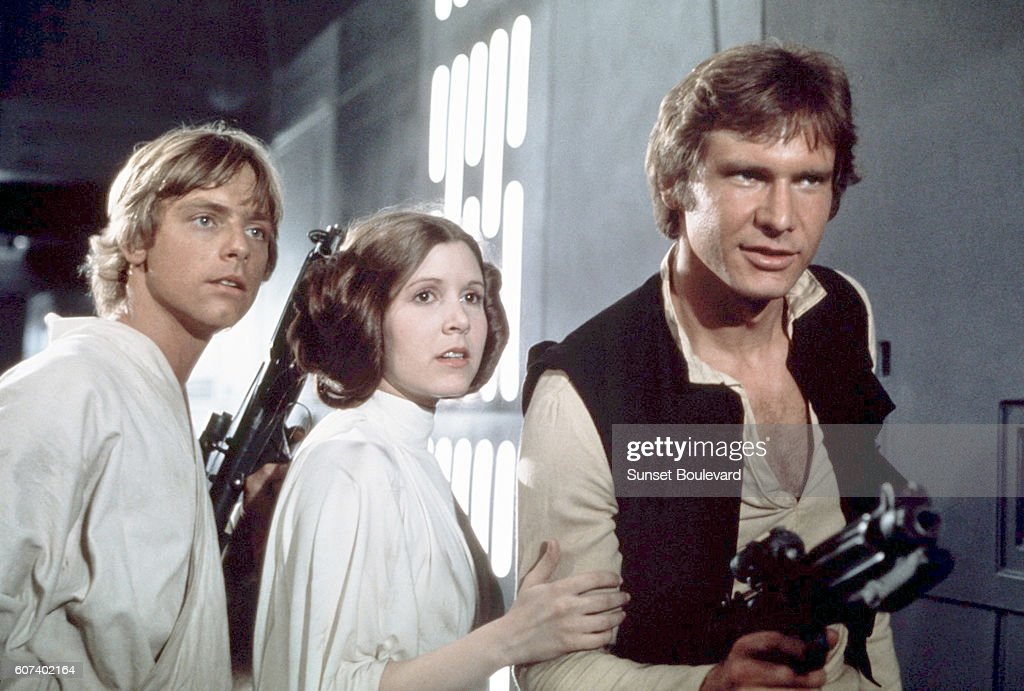 On the set of Star Wars: Episode IV - A New Hope : News Photo
