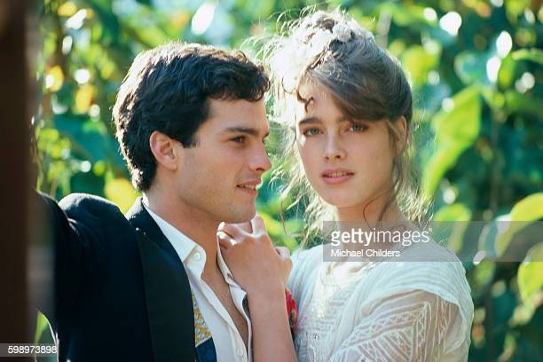 American actors Martin Hewitt and Brooke Shields on the set of Endless Love by Italian director and screewriter Franco Zeffirelli