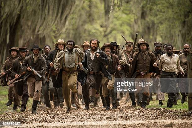 American actors Matthew McConaughey and Mahershala Ali filming 'Free State of Jones' in Louisiana USA April 2015 The film is based on the life of...