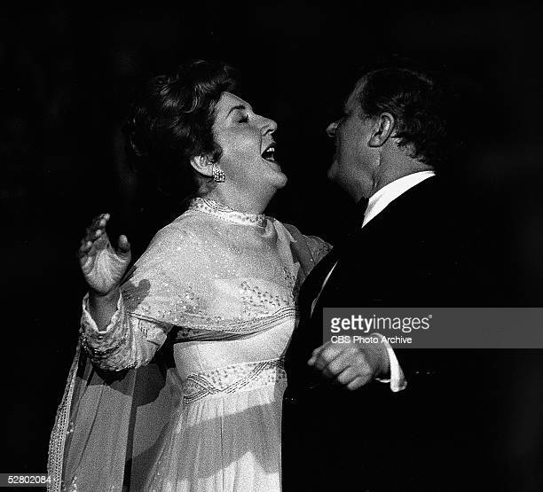 American actors Maureen Stapleton and Charles Durning sing together in a scene from the madefortelevision movie 'Queen of the Stardust Ballroom'...