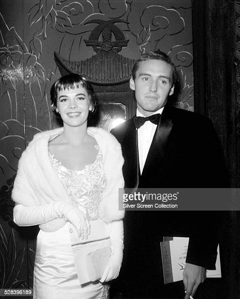 American actors Natalie Wood and Dennis Hopper the premiere of 'Giant' Los Angeles California 17th October 1956