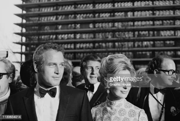 American actors Paul Newman and Joanne Woodward on the red carpet at the 41st Academy Awards, held at the Dorothy Chandler Pavilion, Los Angeles, US,...