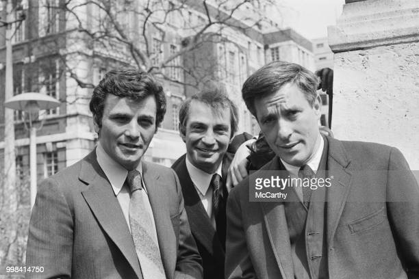 American actors Peter Falk and Ben Gazzara with GreekAmerican actor film director and screenwriter John Cassavetes in London UK 24th April 1969