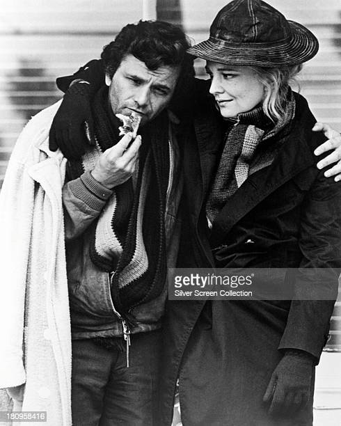 American actors Peter Falk as Nick Longhetti and Gena Rowlands as Mabel Longhetti in 'A Woman Under The Influence' directed by John Cassavetes 1974
