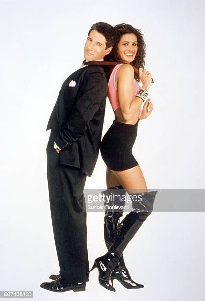 American actors Richard Gere and Julia Roberts on the set of Pretty Woman directed by Garry Marshall