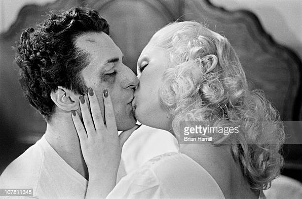American actors Robert De Niro as boxer Jake La Motta and Cathy Moriarty as Vickie La Motta in a scene from the Martin Scorsesedirected film 'Raging...