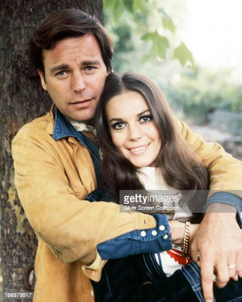 American actors Robert Wagner and his wife Natalie Wood circa 1970