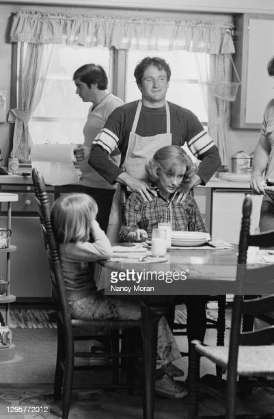 American actors Robin Williams and Mary Beth Hurt on the set of The World According to Garp, based on the novel by John Irving and directed by George...