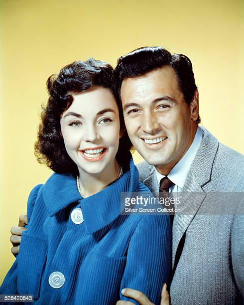 American actors Rock Hudson and Jennifer Jones in a promotional portrait for 'A Farewell To Arms' directed by Charles Vidor 1957