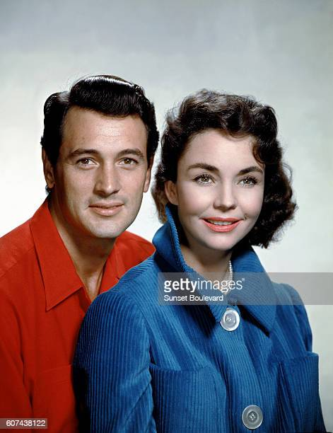 American actors Rock Hudson and Jennifer Jones on the set of A Farewell to Arms based on the novel by Ernest Hemingway and directed by Charles Vidor