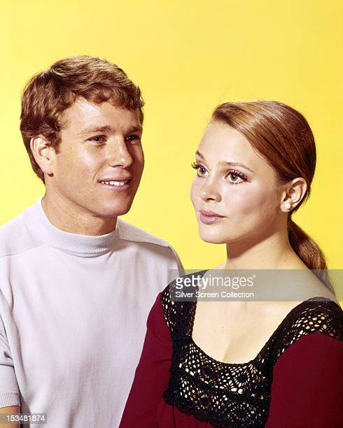 American actors Ryan O'Neal and Leigh TaylorYoung circa 1966 They play Rodney Harrington and Rachel Welles in the ABC soap opera 'Peyton Place'