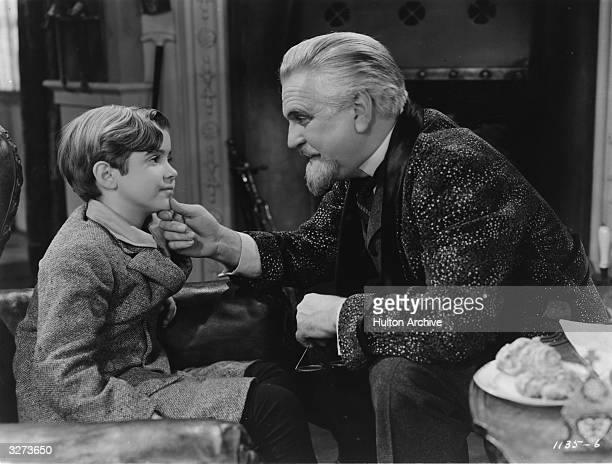 American actors Scotty Beckett and Frank Morgan star in the MGM anti-Nazi melodrama 'The Mortal Storm', the story of a German family torn apart by...