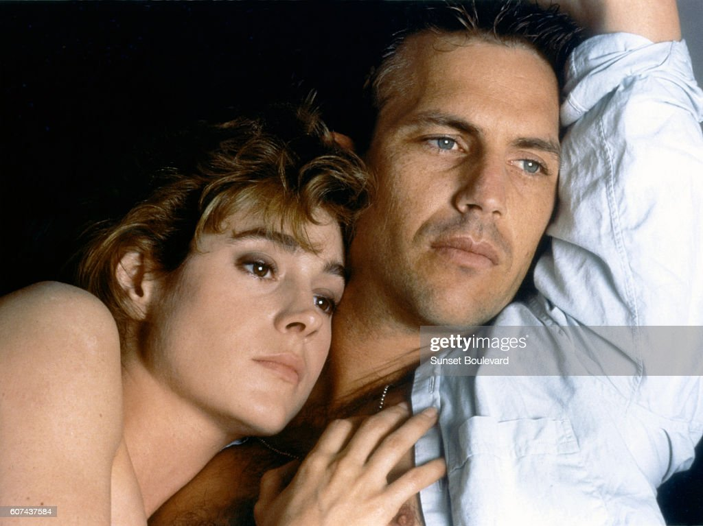 american actors sean young and kevin costner on the set of. Black Bedroom Furniture Sets. Home Design Ideas