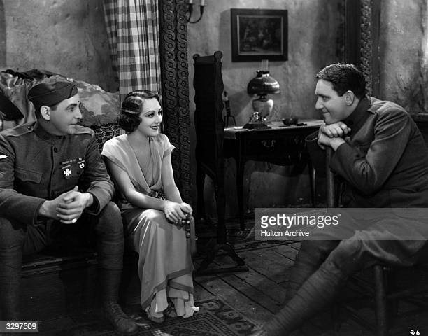 American actors Spencer Tracy William Boyd and Ann Dvorak in a scene from the film 'Sky Devils' directed by A Edward Sutherland for United Artists