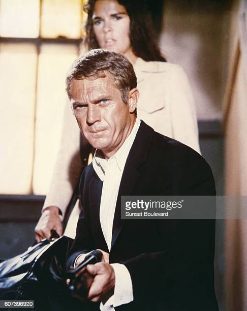 American actors Steve McQueen and Ali Mac Graw on the set of The Getaway directed by Sam Peckinpah